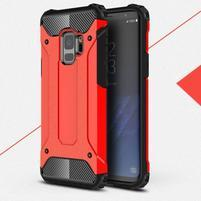 Armory odolný hybridní obal na Samsung Galaxy S9 - červený