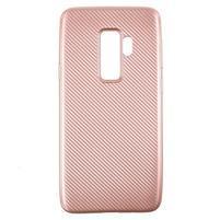 Flexi gelový obal se strukturou na Samsung Galaxy S9 Plus - rosegold