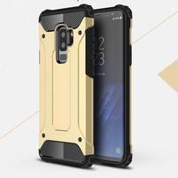 Armory odolný hybridní obal na Samsung Galaxy S9 Plus - zlatý