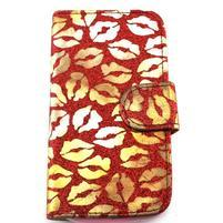 Pusinky peněženkové pouzdro na Samsung Galaxy S4 Mini - červené