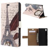 Peněženkové pouzdro na Sony Xperia M4 Aqua - Eiffelova věž