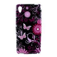 Gelový kryt na Sony Xperia M4 Aqua - květinoví motýlci