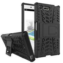 Outdoor odolný obal se stojánkem na Sony Xperia X Compact - černý