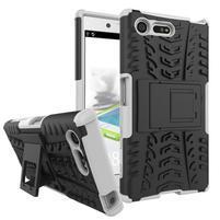 Outdoor odolný obal se stojánkem na Sony Xperia X Compact - bílý