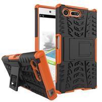 Outdoor odolný obal se stojánkem na Sony Xperia X Compact - oranžový