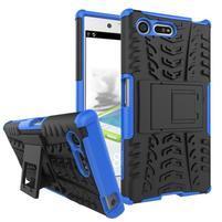 Outdoor odolný obal se stojánkem na Sony Xperia X Compact - modrý