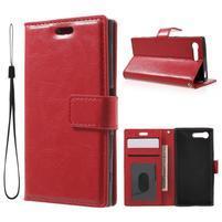 Horse PU kožené pouzdro na mobil Sony Xperia X Compact - červené