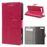 Leathy PU kožené pouzdro na Sony Xperia X Compact - rose