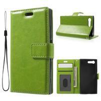 Horse PU kožené pouzdro na mobil Sony Xperia X Compact - zelené