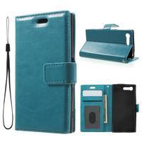 Horse PU kožené pouzdro na mobil Sony Xperia X Compact - modré