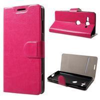 Horse PU kožené pouzdro na Sony Xperia XZ2 compact - rose