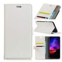 Litch PU kožené flipové pouzdro pro Sony Xperia XZ3 - bílé