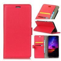 Litch PU kožené flipové pouzdro pro Sony Xperia XZ3 - červené