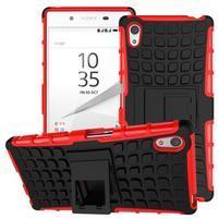Outdoor odolný obal pre Sony Xperia Z5 - červený