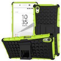 Outdoor odolný obal pre Sony Xperia Z5 - zelený