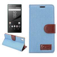 Jeans peněženkové pouzdro Sony Xperia Z5 - světlemodré