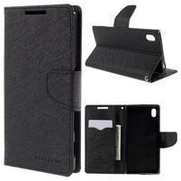 Mercur Peňaženkové puzdro pre Sony Xperia Z5 - čierne