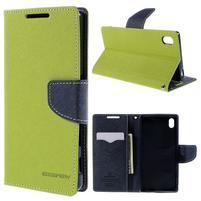 Mercur peněženkové pouzdro na Sony Xperia Z5 - zelené