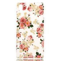 Softy gelový obal na mobil Sony Xperia Z5 - květiny