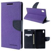 Mercur peněženkové pouzdro na Sony Xperia Z5 - fialové