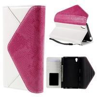 Stylové peněženkové pouzdro Sony Xperia Z5 - rose