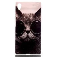 Softy gelový obal na mobil Sony Xperia Z5 - cool kočka