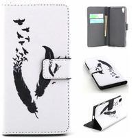 Cross peněženkové pouzdro na Sony Xperia Z5 - ptačí peříčka