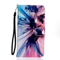 Koženkové pouzdro na mobil Sony Xperia Z5 - barevný kouř