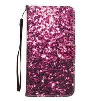Koženkové pouzdro na mobil Sony Xperia Z5 - fialové fragmenty