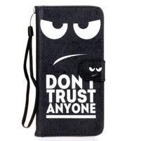 Koženkové pouzdro na mobil Sony Xperia Z5 - nedotýkat se