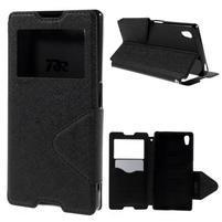 Diary pouzdro s okýnkem na Sony Xperia Z5 - černé