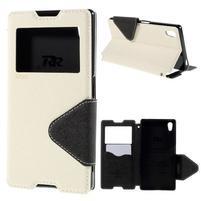 Diary pouzdro s okýnkem na Sony Xperia Z5 - bílé