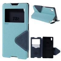 Diary pouzdro s okýnkem na Sony Xperia Z5 - světlemodré