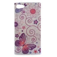 Gelový obal na mobil Sony Xperia Z5 Compact - květiny a motýl