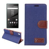Jeans peněženkové pouzdro Sony Xperia Z5 - tmavěmodré