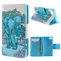 Diary peněženkové pouzdro na Sony Xperia Z5 Compact - slon