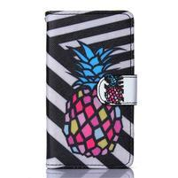 Sand pouzdro na mobil Sony Xperia Z5 Compact - barevný ananas