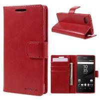 Bluemoon PU kožené pouzdro na Sony Xperia Z5 Compact - červené