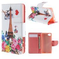 Wally Peňaženkové puzdro pre Sony Xperia Z5 Compact - Eiffelova veža