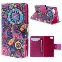 Diary peněženkové pouzdro na Sony Xperia Z5 Compact - flower