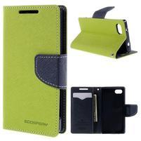 Fancy PU kožené pouzdro na Sony Xperia Z5 Compact - zelené