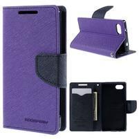 Fancy PU kožené pouzdro na Sony Xperia Z5 Compact - fialové