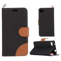 Cloth peněženkové pouzdro na mobil Sony Xperia Z5 Compact - černé