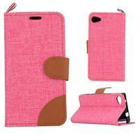 Cloth peněženkové pouzdro na mobil Sony Xperia Z5 Compact - růžové