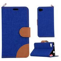 Cloth peněženkové pouzdro na mobil Sony Xperia Z5 Compact - tmavěmodré