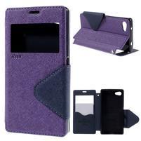 Pouzdro s okýnkem na Sony Xperia Z5 Compact - fialové