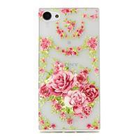 Transparentní gelový obal na Sony Xperia Z5 Compact - elegantní květiny