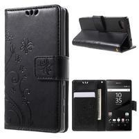 Butterfly peněženkové pouzdro na Sony Xperia Z5 Compact - černé