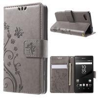 Butterfly peněženkové pouzdro na Sony Xperia Z5 Compact - šedé