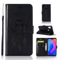 Dream PU kožené peněženkové pouzdro na Xiaomi Mi A2 Lite - černé